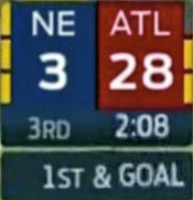 Atlanta Falcons blew a 25 point lead to lose the Superbowl.