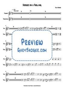 Blue Swede - Hooked on a Feeling - Trumpet+Tenor