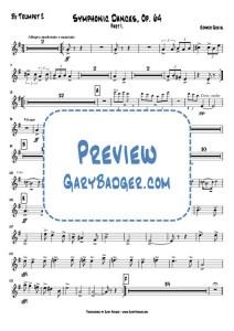 Greig - Symphonic Dances, Op.64 I - Bb Trumpet 2