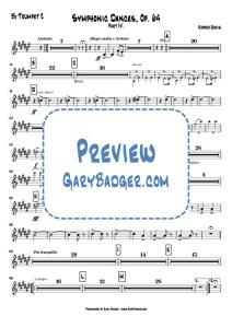 Greig - Symphonic Dances, Op.64 IV - Bb Trumpet 2