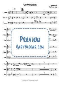 Herb Alpert - Whipped Cream - Trumpet, Tenor Sax, Trombone