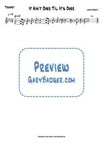 Lenny Kravitz - It Ain't Over Til It's Over - Trumpet