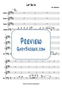 Paul McCartney - Let 'Em In - Trumpet Trombone