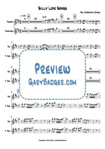 Paul McCartney & Wings - Silly Love Songs - Trumpet Tenor Sax