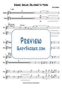 Stevie Wonder - Signed, Sealed, Delivered I'm Yours - Trumpet Tenor