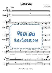 The Dixie Cups - Chapel of Love - Trumpet Tenor Sax score and charts
