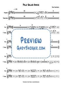 Tony Joe White - Polk Salad Annie - Trumpet Tenor Sax v0.2 Score and Charts.