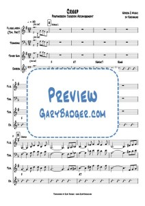 Postmodern Jukebox - Creep - Trombone Tenor Sax Chords. Transcribed by Gary Badger - www.GaryBadger.com