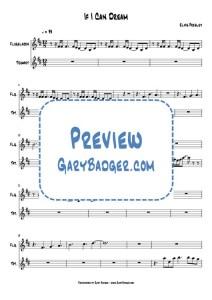 Elvis Presley - If I Can Dream - Flugelhorn Trumpet chart. Transcribed by Gary Badger - www.GaryBadger.com