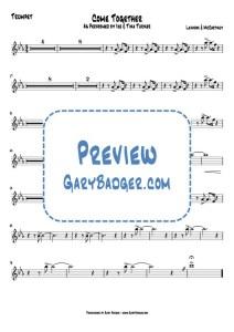 Ike & Tina Turner - Come Together - Trumpet chart. Transcribed by Gary Badger - www.GaryBadger.com