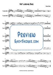 Ringo Starr - Not Looking Back - Flugelhorn chart. Transcribed by Gary Badger - www.GaryBadger.com