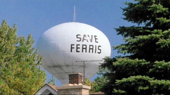 Save Ferris water tank. Ferris Bueller's Day Off