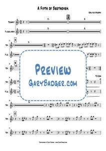 Walter Murphy - A Fifth of Beethoven - Trumpet Flugelhorn chart. Transcribed by Gary Badger - www.GaryBadger.com