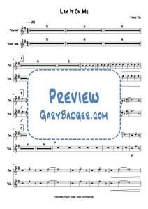 Vance Joy - Lay It On Me - Trumpet Tenor Sax chart. Transcribed by Gary Badger - www.GaryBadger.com