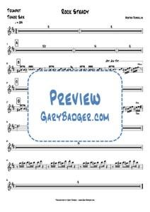 Aretha Franklin - Rock Steady - Trumpet - Tenor Sax. Transcribed by Gary Badger - www.GaryBadger.com