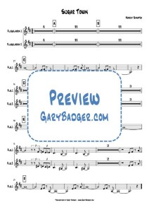 Nancy Sinatra - Sugar Town - Trumpet chart. Transcribed by Gary Badger - www.GaryBadger.com
