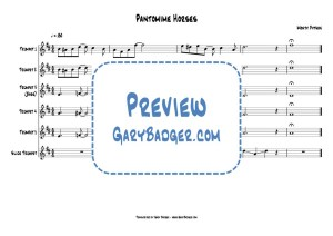Monty Python - Pantomime Horses trumpet charts. Transcribed by Gary Badger - www.GaryBadger.com