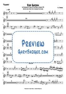 Al Jarreau - Roof Garden - Trumpet chart. Transcribed by Gary Badger - www.GaryBadger.com