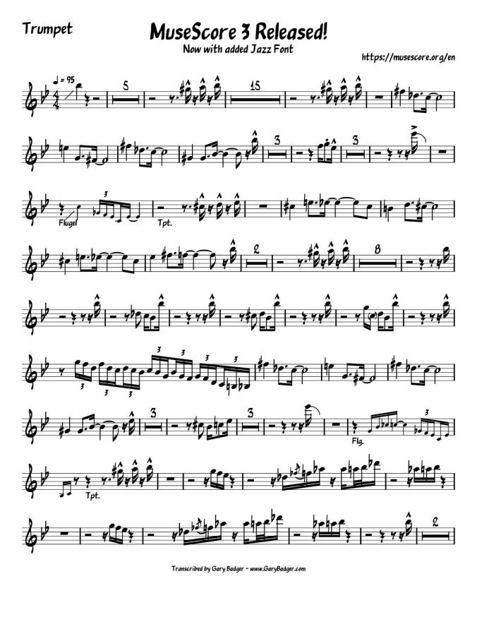 MuseScore 3 Released! Now with added Jazz font.