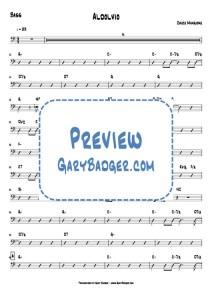 Chuck Mangione - Aldolvio - Chords Bass. Transcribed by Gary Badger - www.GaryBadger.com