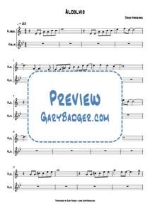Chuck Mangione - Aldolvio - Flugelhorn Violin. Transcribed by Gary Badger - www.GaryBadger.com