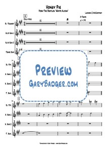 The Beatles - Honey Pie - Trumpet Clarinet Sax charts. Transcribed by Gary Badger - www.GaryBadger.com