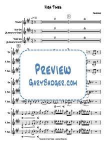 Jamiroquai - High Times - Trumpet Sax. Transcribed by Gary Badger - www.GaryBadger.com