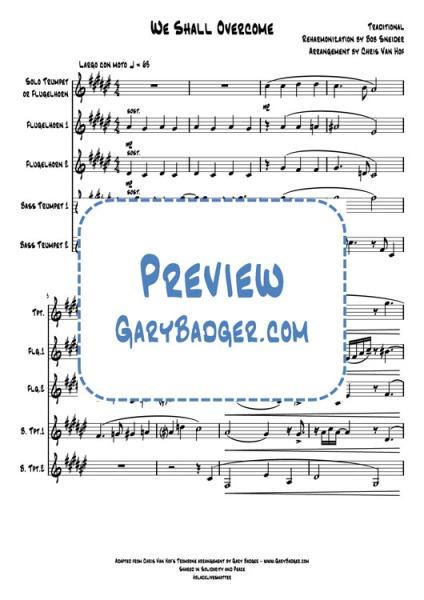 We Shall Overcome - Trumpet Quintet. Gary Badger - www.GaryBadger.com