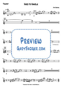 Otis Redding - Hard To Handle - Trumpet. Transcribed by Gary Badger - www.GaryBadger.com
