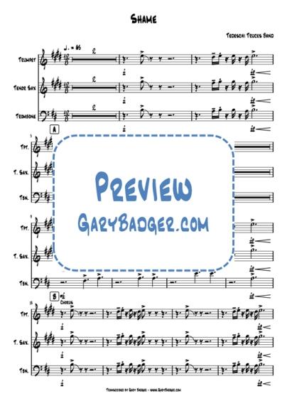 Tedeschi Trucks Band - Shame - Trumpet Tenor Sax Trombone charts. Transcribed by Gary Badger - www.GaryBadger.com