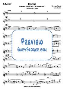 Waldeck - Addicted - Clarinet chart. Transcribed by Gary Badger - www.GaryBadger.com